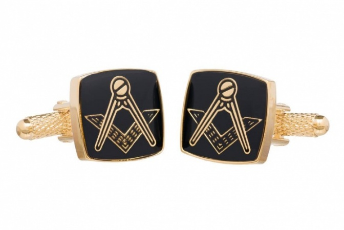 Masonic Cufflinks with Square and Compass